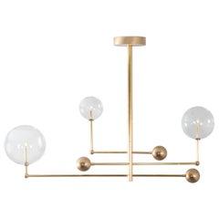 Brass Chandelier by Schwung