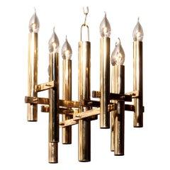 Brass Chandelier by Sciolari, 1960s