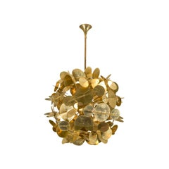 Brass Chandelier by Studio Glustin