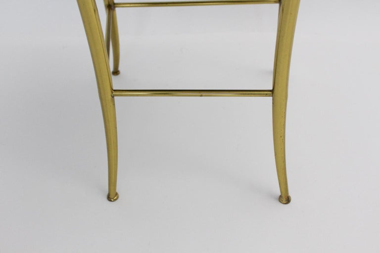 Mid Century Modern Vintage Brass Chiavari Side Chair, 1950s, Italy For Sale 1