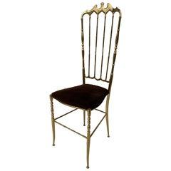 Brass Chiavari Vanity Side Chair