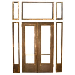 Brass Clad Entry/Double Doors with Sidelights & Transoms