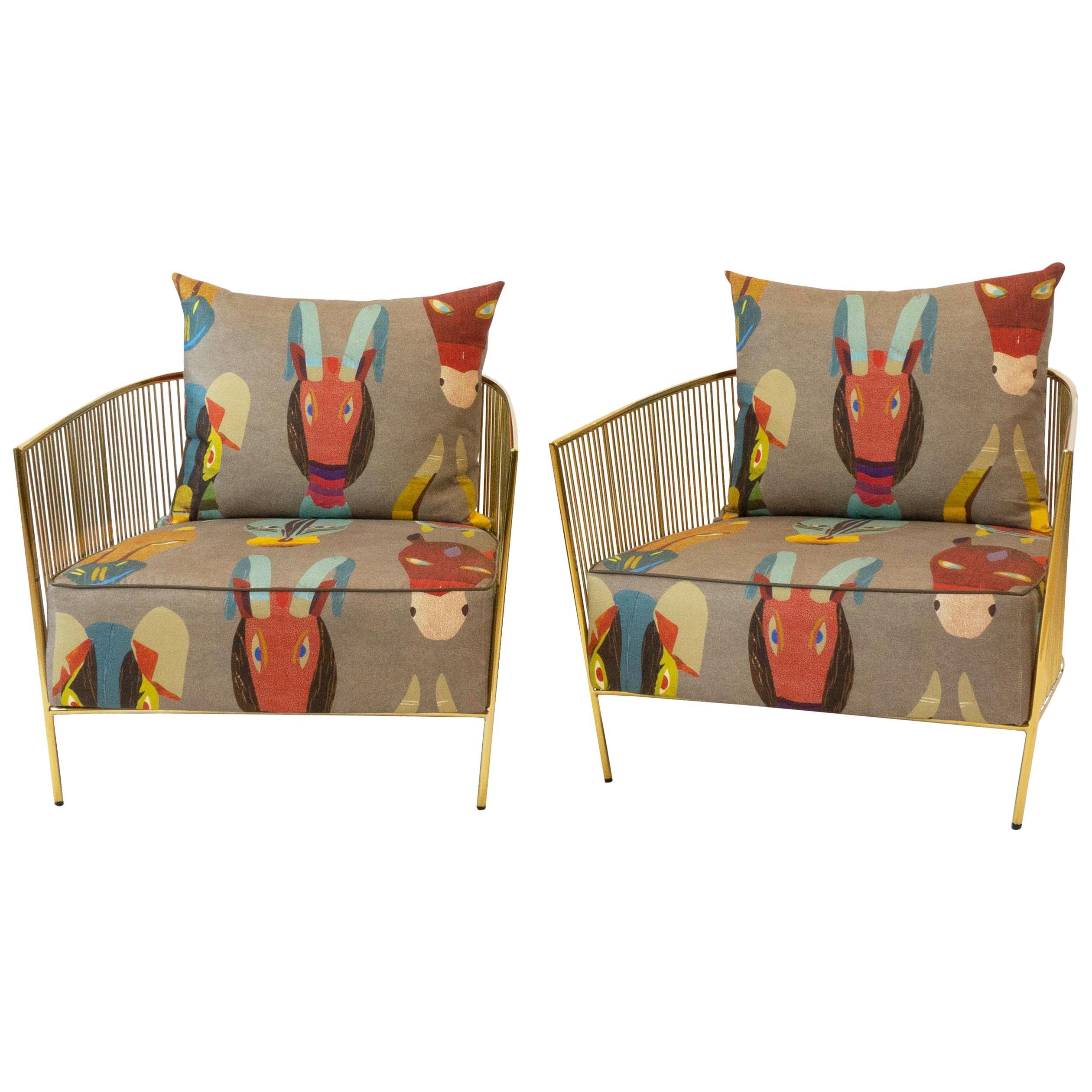Brass Club Chair