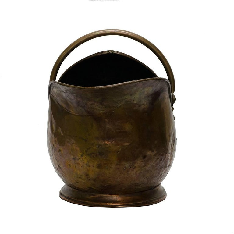 Victorian Brass Coal Scuttle For Sale