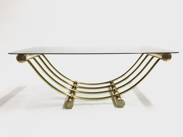 Brass Coffee Table, 1970s For Sale 6