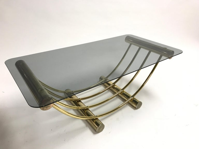 Brass Coffee Table, 1970s For Sale 3