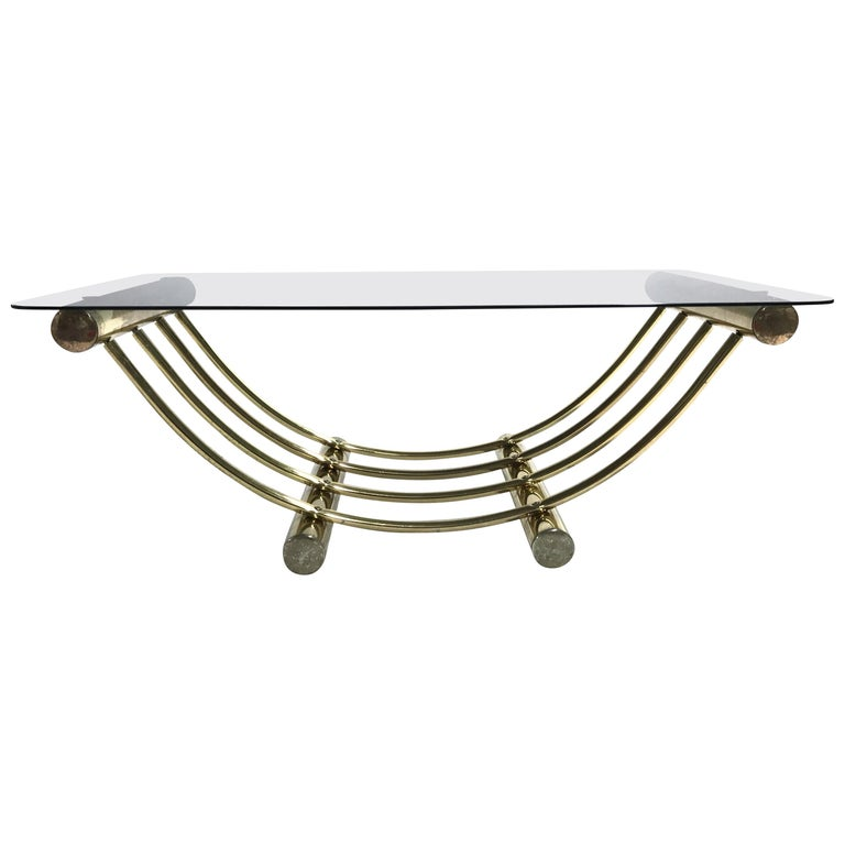 Brass Coffee Table, 1970s For Sale