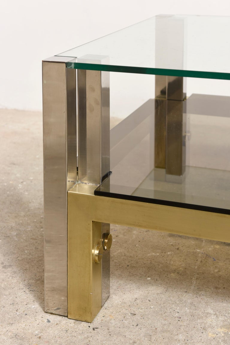 Brass Coffee Table by Alfredo Freda for Cittone Oggi, 1970S,Italy In Good Condition For Sale In Antwerp, BE