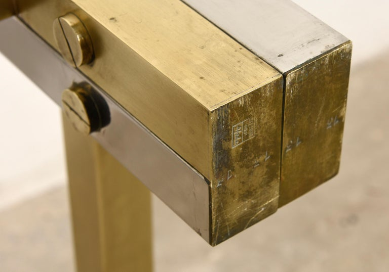 Brass Coffee Table by Alfredo Freda for Cittone Oggi, 1970S,Italy For Sale 1