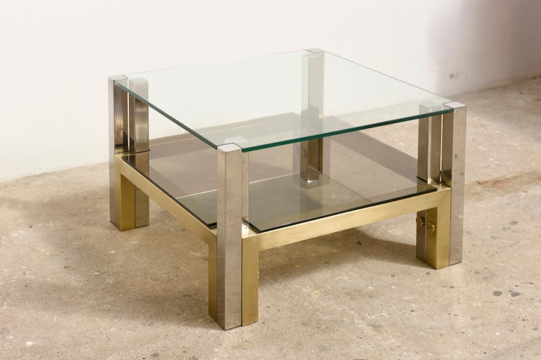 Brass Coffee Table by Alfredo Freda for Cittone Oggi, 1970S,Italy For Sale 2