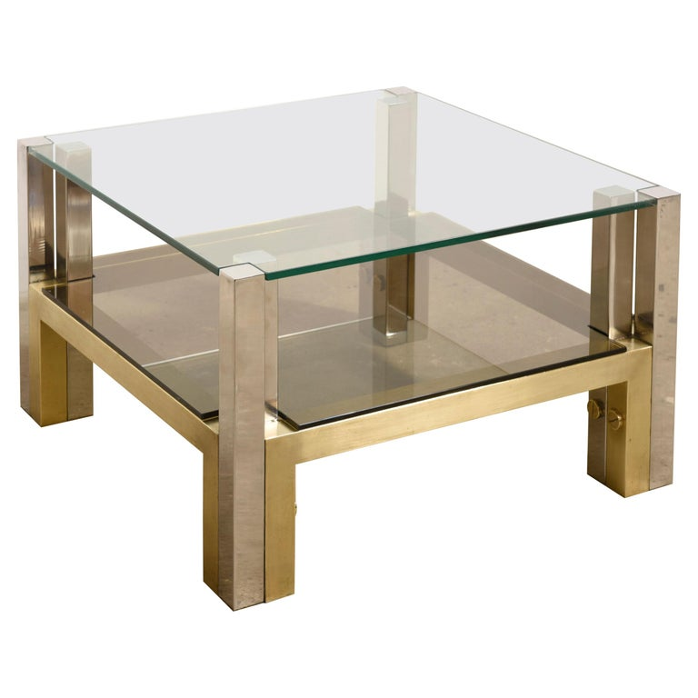 Brass Coffee Table by Alfredo Freda for Cittone Oggi, 1970S,Italy For Sale