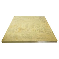 Brass Coffee Table by George Mathias, Belgium, 1970s