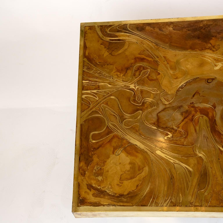 Canadian Brass Coffee Table in the Manner of Bernhard Rohne For Sale