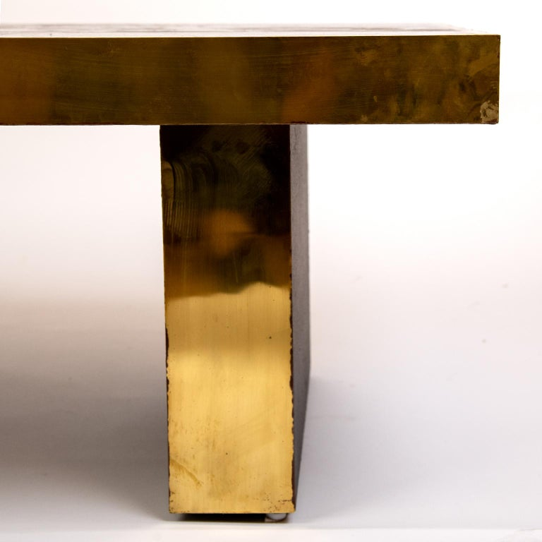 Brass Coffee Table in the Manner of Bernhard Rohne For Sale 2