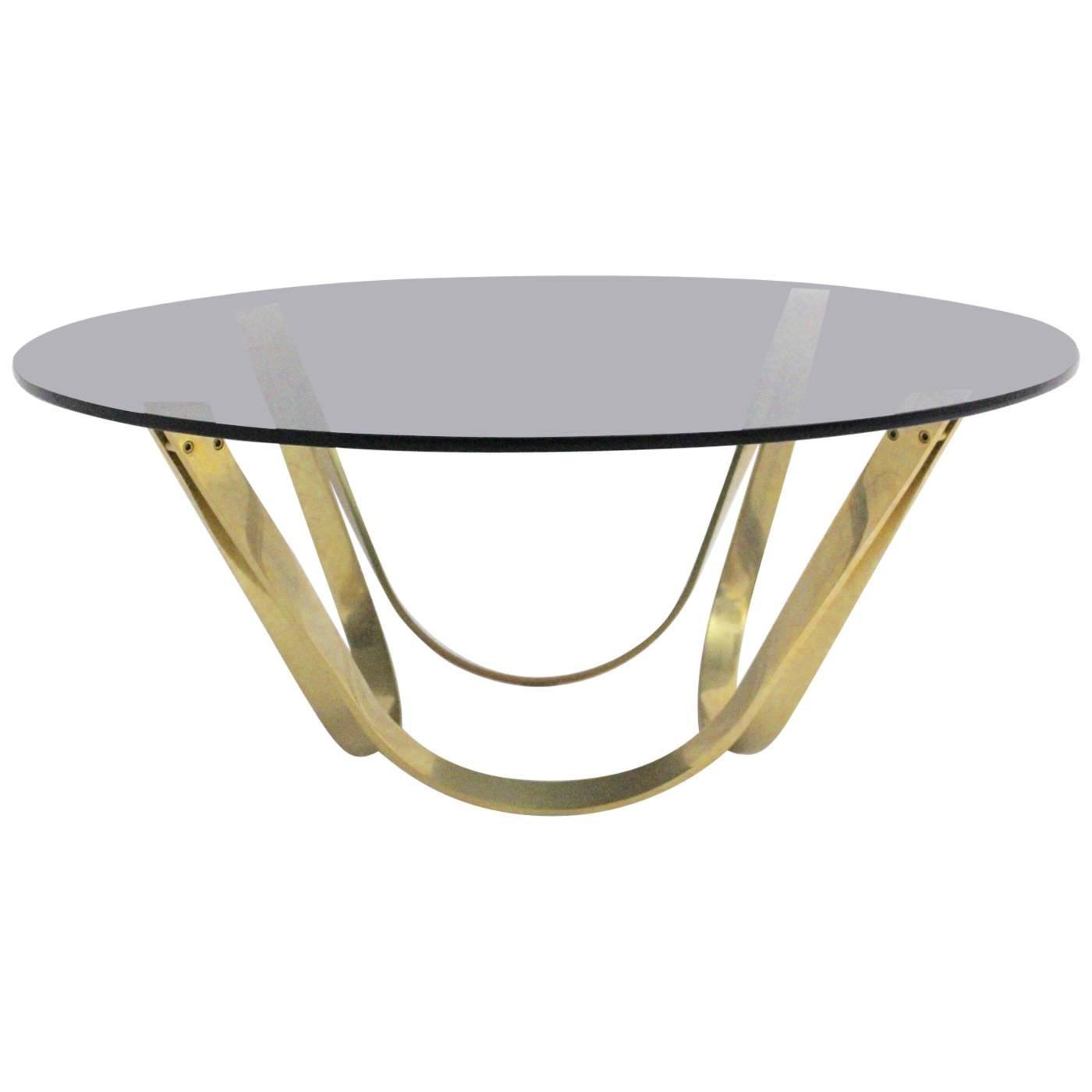 Brass Vintage Coffee Table Mid-Century Modern, 1960s