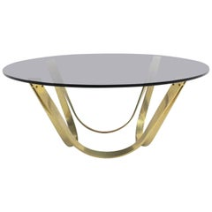 Brass Vintage Coffee Table Mid-Century Modern, 1960s