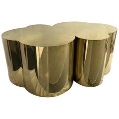 """Brass Coffee Table """"Nublado"""" by Edouard De La Marque"""