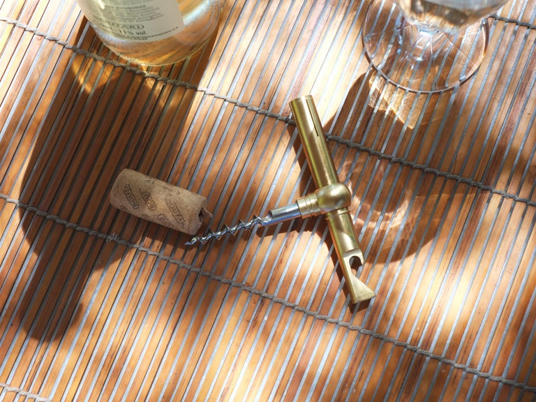 Contemporary Brass Collet Corkscrew by Fort Standard, in Stock For Sale 2