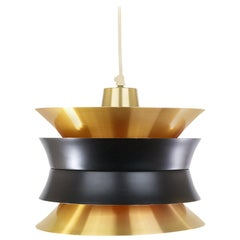 Brass Colored Trava Pendant by Carl Thore for Granhaga, 1960s