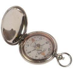 WWI Antique Brass Pocket Magnetic Compass Ceebynite  American Aviation Officers