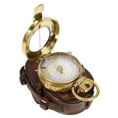 Antique Navigation Brass Compass made in 1918 and Supplied to British Officers