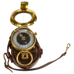Brass Compass with Leather Case Made in 1916 Supplied to English Officers