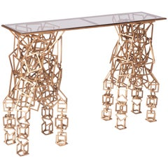 Brass Console Table in the Style of Antony Gormley