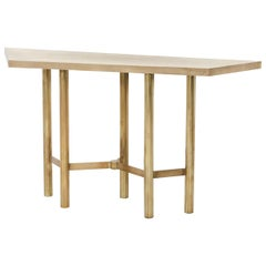 Brass Contemporary Console Table