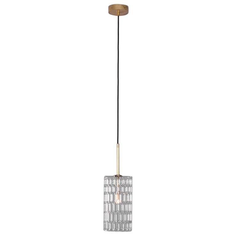Brass Contemporary Pendant Light by Schwung