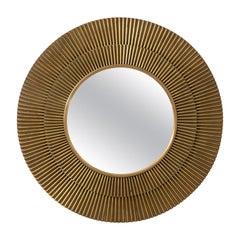 Brass Convex Starburst Mirror by Barbara Barry
