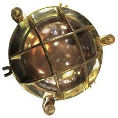 Brass and Copper Nautical Ship Porthole Light