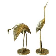 Brass Crane Birds, 1970s