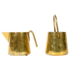 Brass Cream and Sugar Set by Carl Auböck