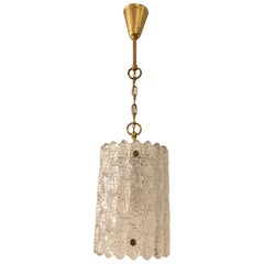 Brass and Crystal Pendant Lamp by Carl Fagerlund