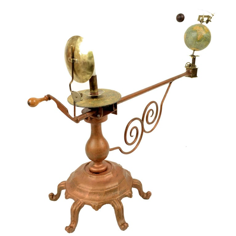 Antique Brass Czech Orrery Astronomical Instruments Made by Jan Felkl in 1870 In Good Condition For Sale In Milan, IT