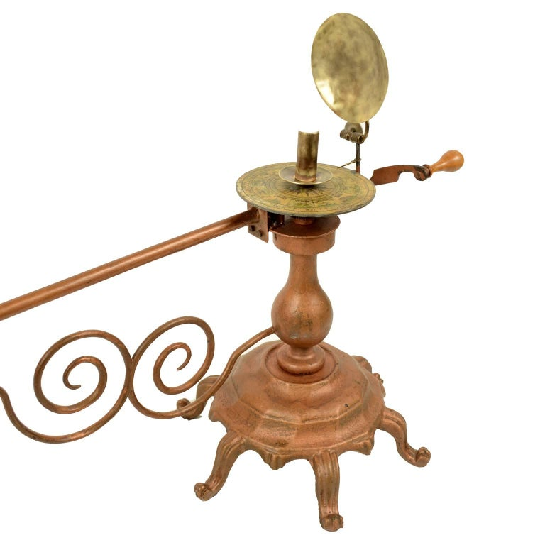 Mid-19th Century Antique Brass Czech Orrery Astronomical Instruments Made by Jan Felkl in 1870 For Sale