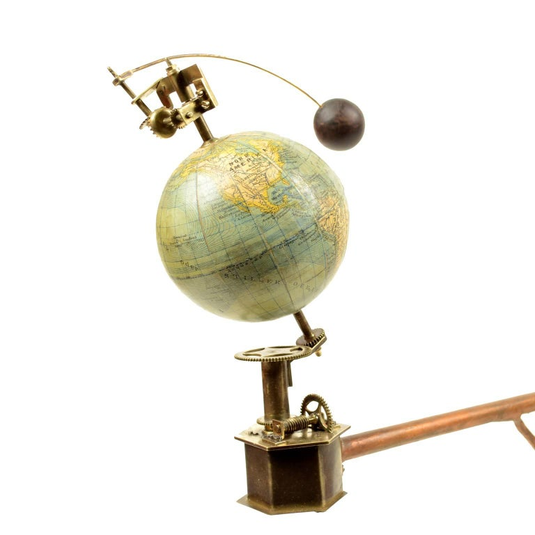 Antique Brass Czech Orrery Astronomical Instruments Made by Jan Felkl in 1870 For Sale 2