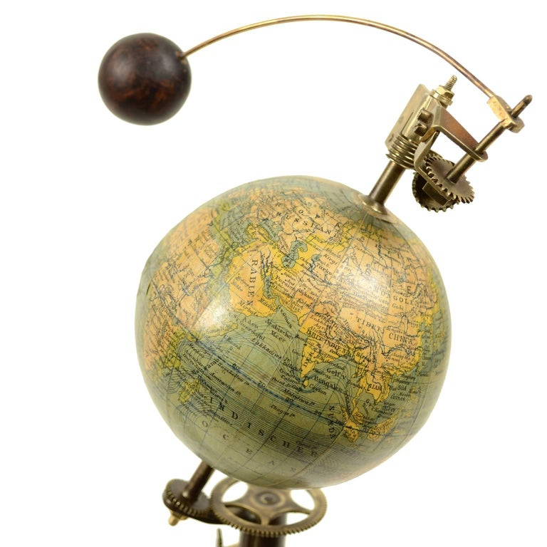 Antique Brass Czech Orrery Astronomical Instruments Made by Jan Felkl in 1870 For Sale 4