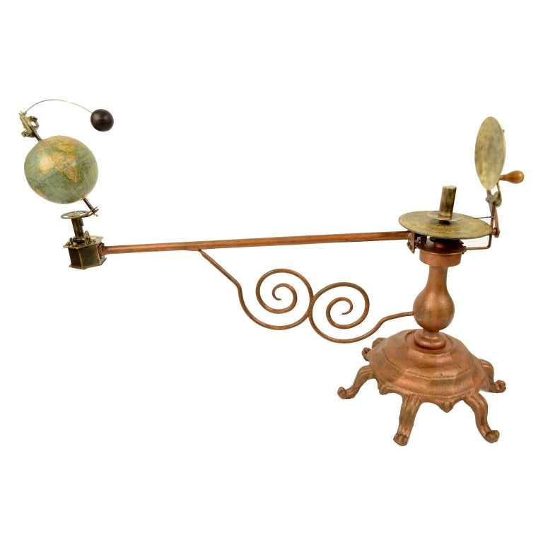 Antique Brass Czech Orrery Astronomical Instruments Made by Jan Felkl in 1870 For Sale