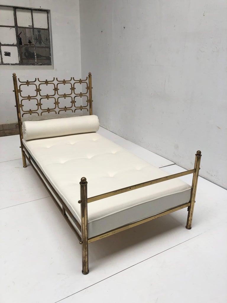 Brass Day Bed by Borsani and Sculptor Arnaldo Pomodoro , circa 1958 For Sale 2