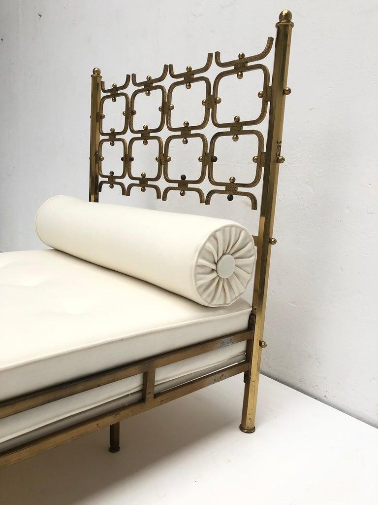 Brass Day Bed by Borsani and Sculptor Arnaldo Pomodoro , circa 1958 For Sale 5