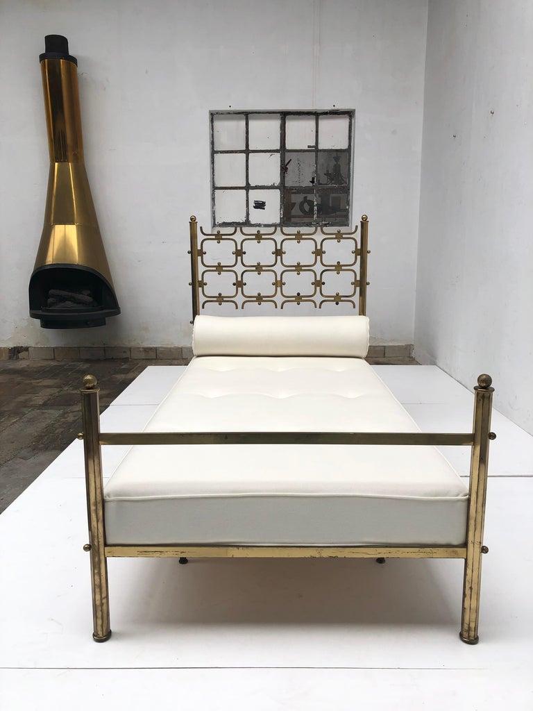Brass Day Bed by Borsani and Sculptor Arnaldo Pomodoro , circa 1958 For Sale 6