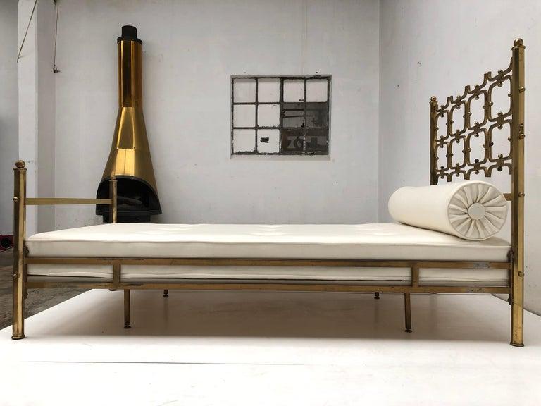 Brass Day Bed by Borsani and Sculptor Arnaldo Pomodoro , circa 1958 For Sale 7