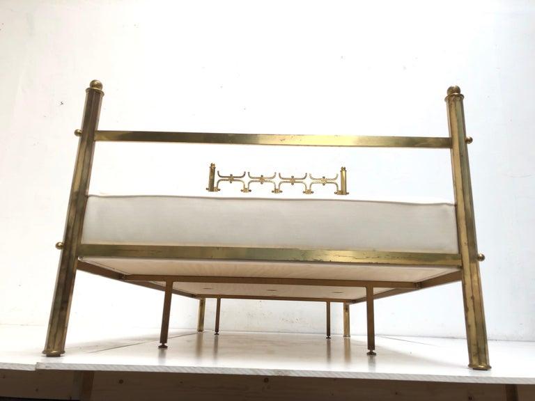 Brass Day Bed by Borsani and Sculptor Arnaldo Pomodoro , circa 1958 For Sale 9