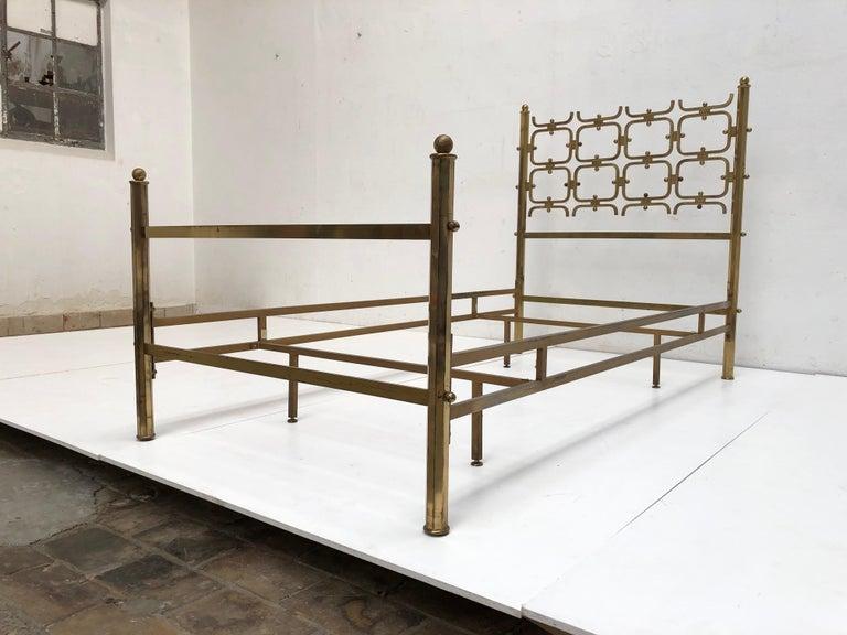 Italian Brass Day Bed by Borsani and Sculptor Arnaldo Pomodoro , circa 1958 For Sale