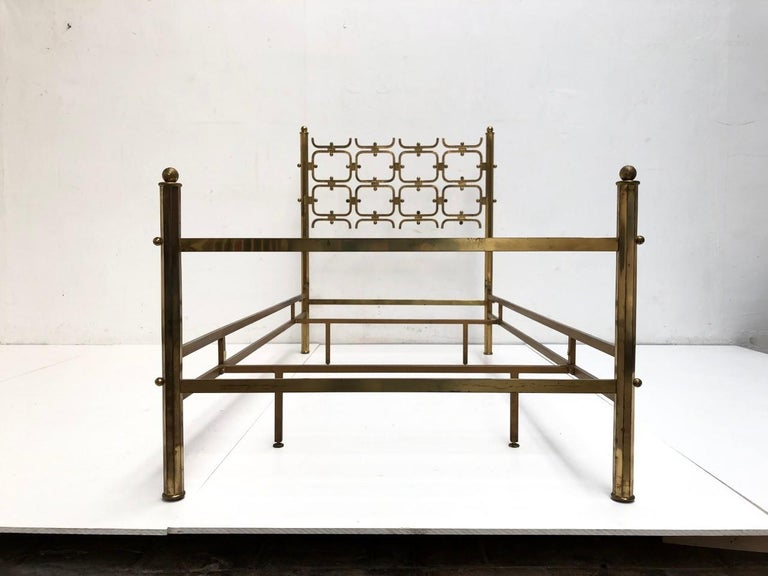 Brass Day Bed by Borsani and Sculptor Arnaldo Pomodoro , circa 1958 In Good Condition For Sale In bergen op zoom, NL