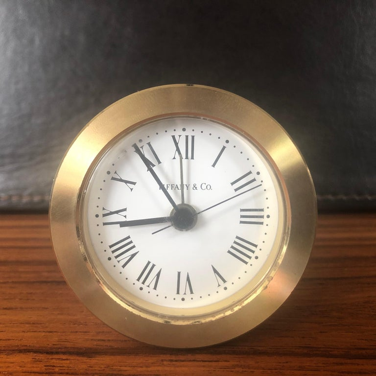 Brass Desk Alarm Clock by Tiffany & Co. For Sale 4