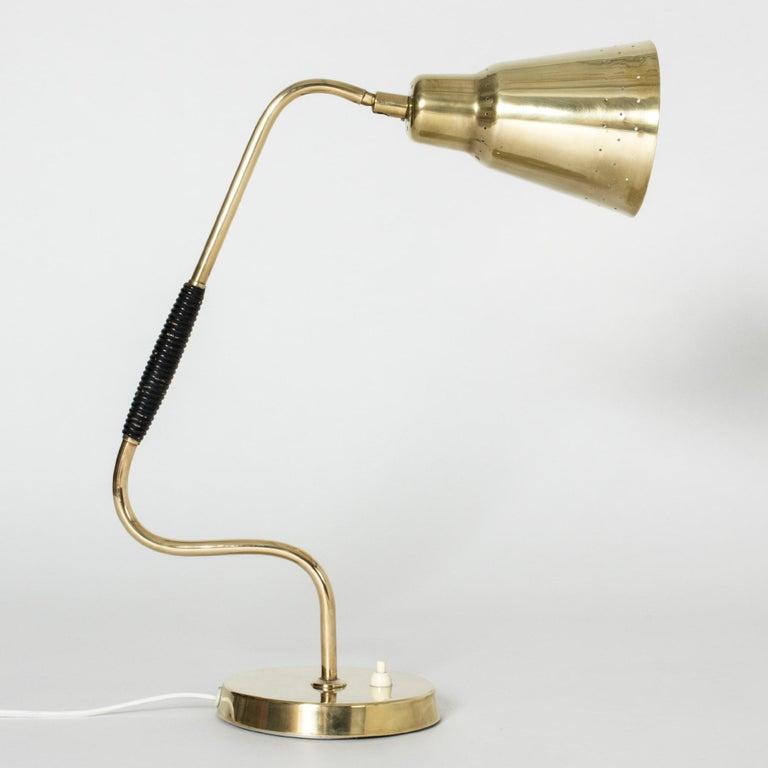 Swedish Brass desk lamp from Bergboms For Sale