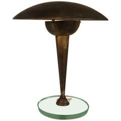 Brass Desk or Table Lamp by Stilnovo