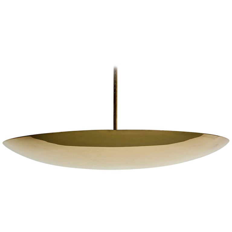 Brass Dome Ceiling Pendant For Sale